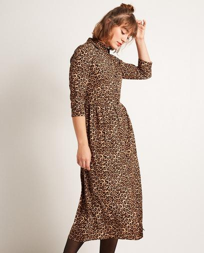 Hemdjurk met luipaardprint